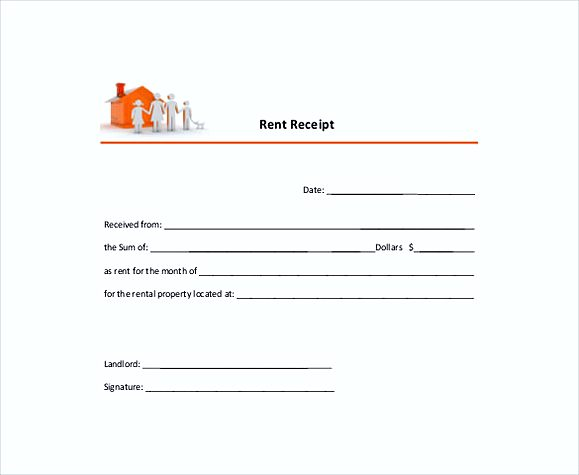 annual rent receipt templates