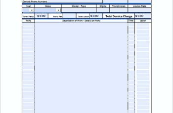 auto repair invoice templates pdf