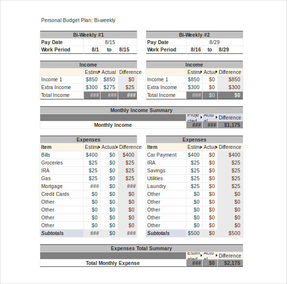 Sample Household Budget Worksheet  BesikEightyCo