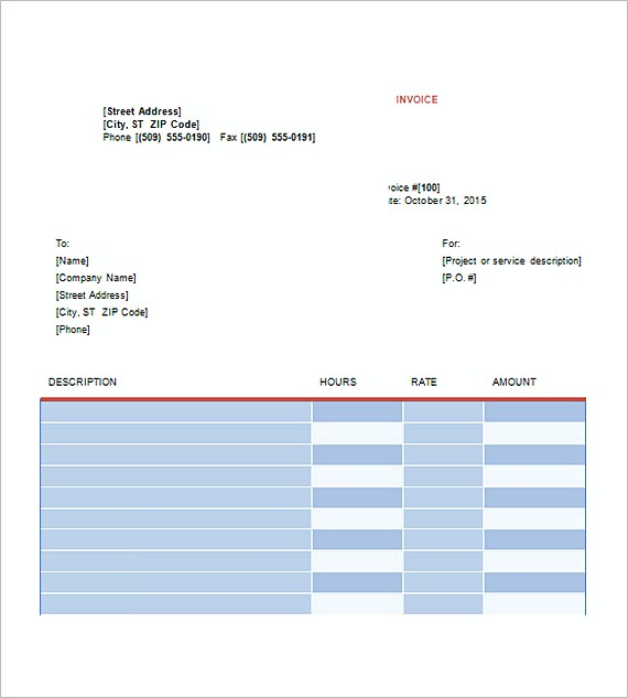Graphic Design Invoice Templates Free  Design Invoice Template Free