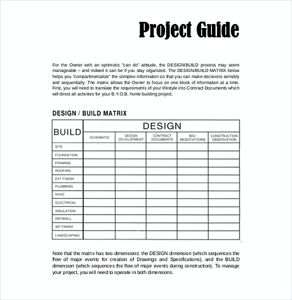 9 Construction Budget Template