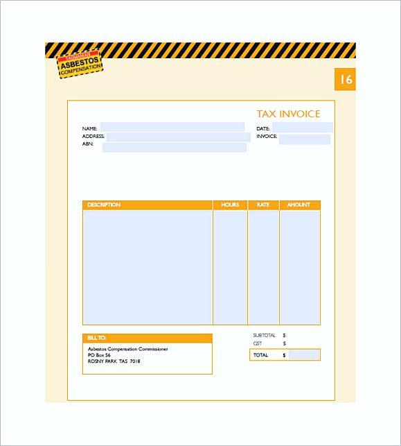 medical invoice templates pdf
