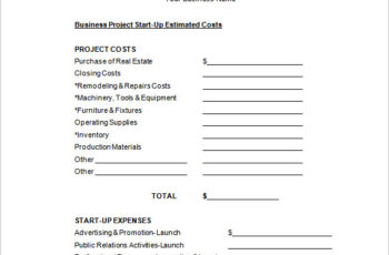 office Sample Project Budget Proposal Free