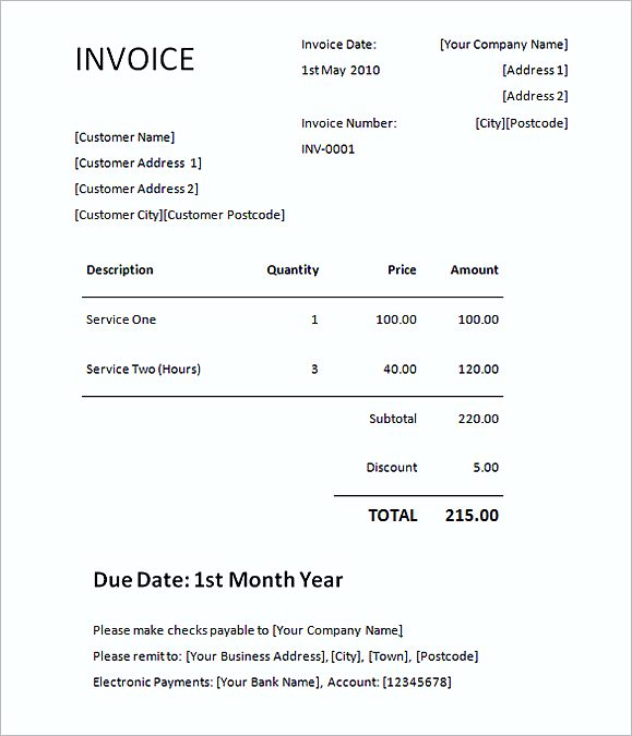 Invoice Template Doc Format. 17 Best Business Doc Images On