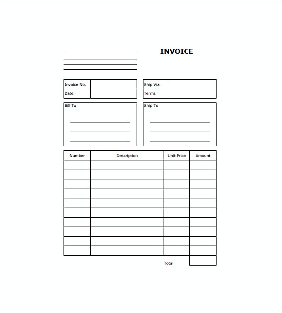 Web Design Invoice Templates Free