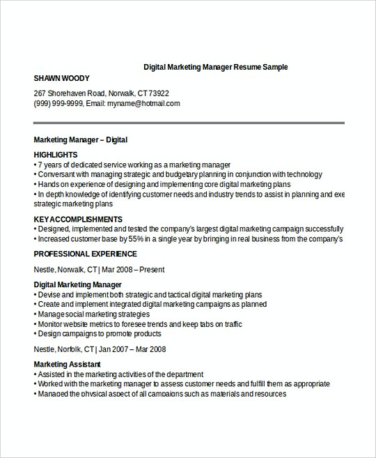 assistant brand manager resume sample click here to download this