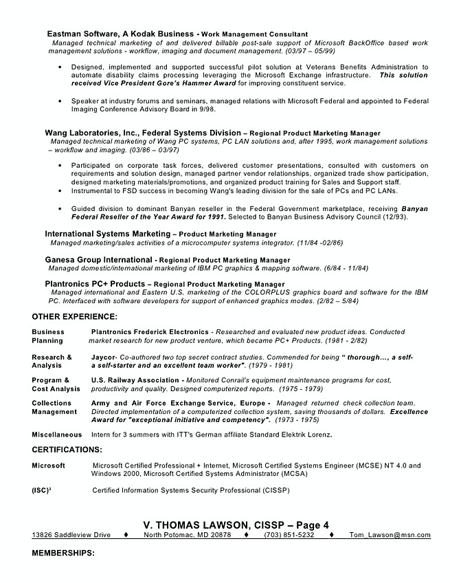 Identity and access management resume template
