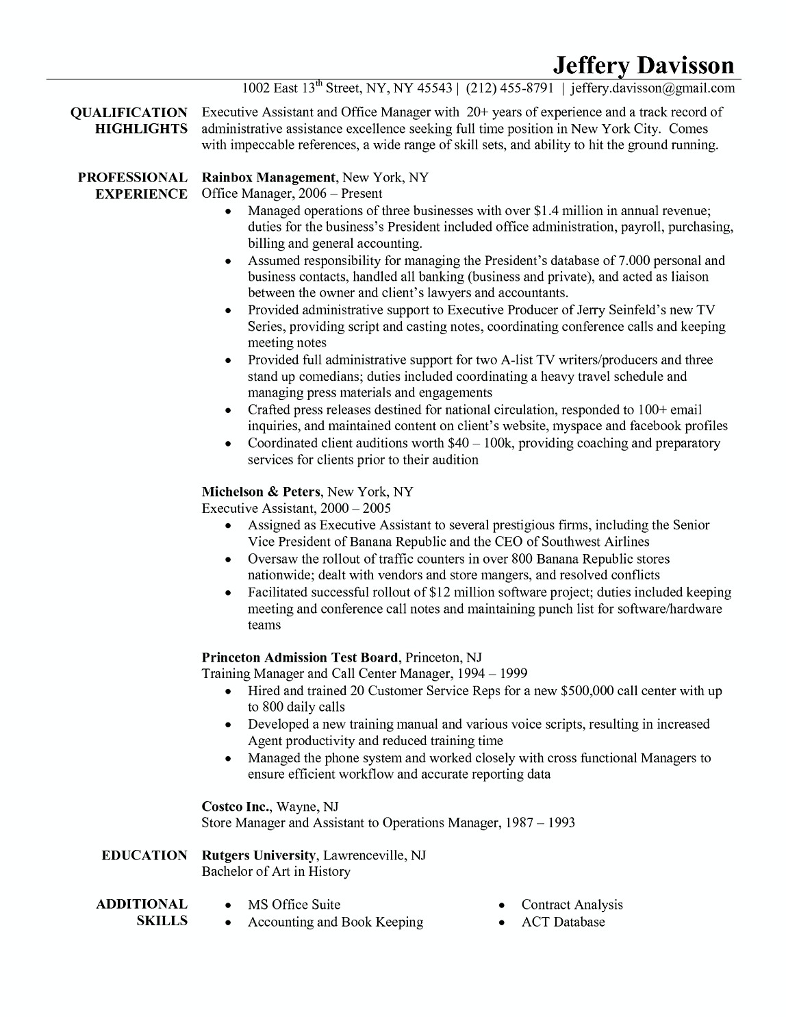 resume examples for office jobs, office job resume sample resume for ...
