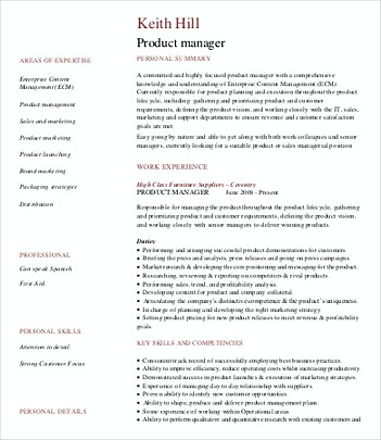 Software Product Manager Resume