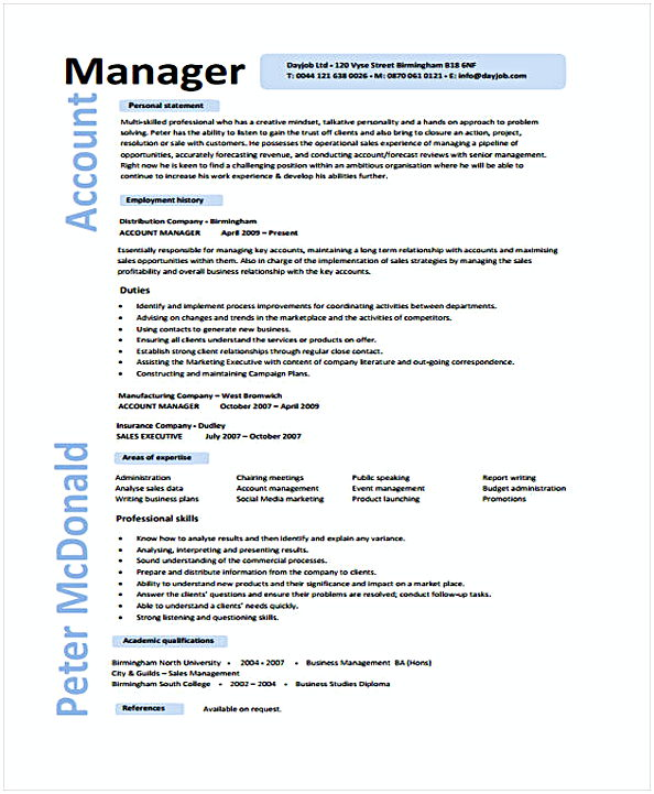 Account Manager Executive