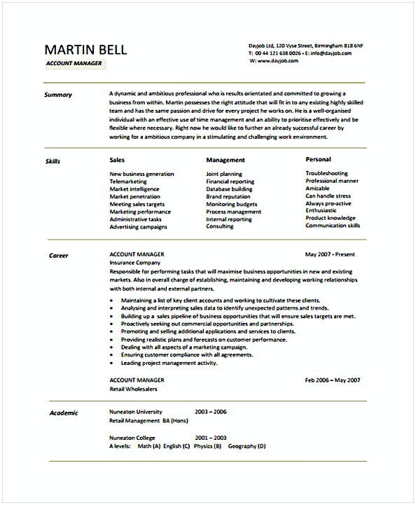 Account Manager. Account Manager. Sales Resume  Account Manager Resume Sample