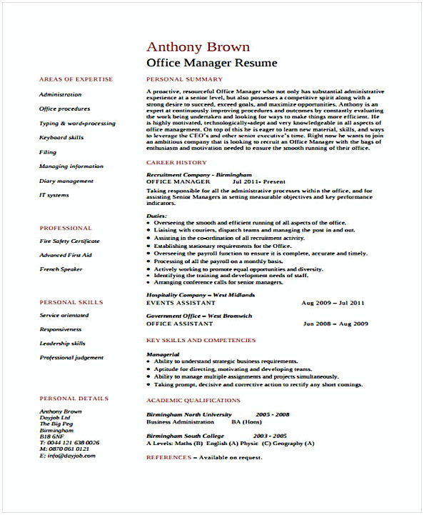 Assistant Office Manager