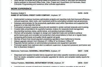 Business Analyst Resume Format 1