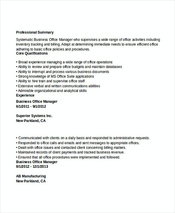 bank branch manager resume