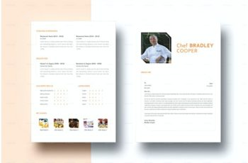 Chef Resume Template in Indesign Format