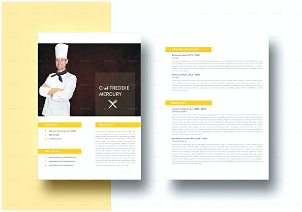 Experienced Chef Resume template