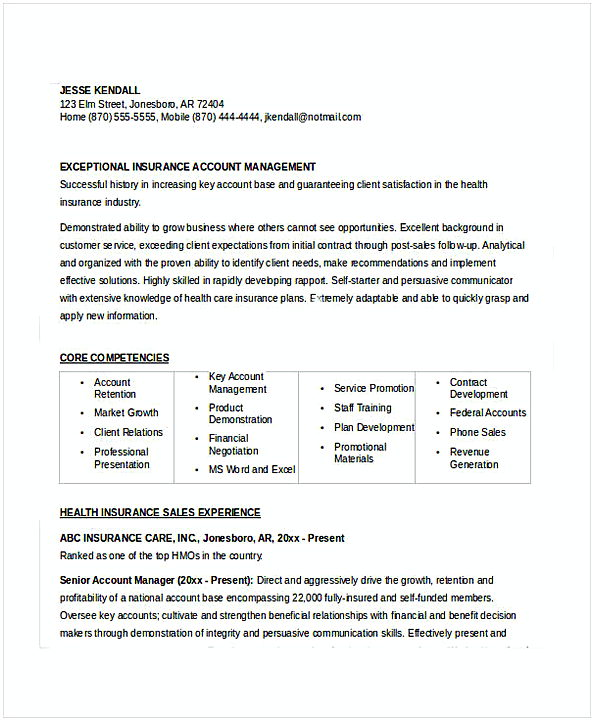 sample insurance resume insurance manager resume example resume