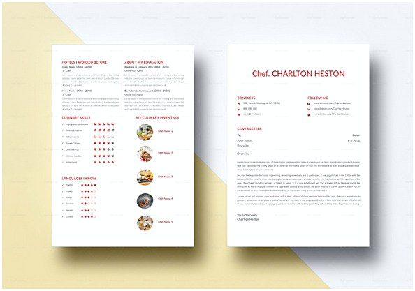 Professional Chef Resume template in