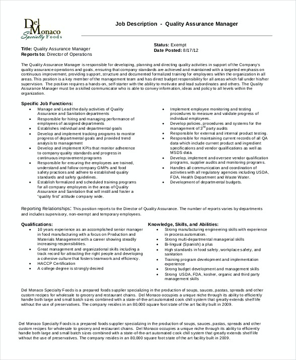 Quality assurance manager resume sample for Quality assurance certificate template
