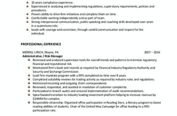 risk and compliance analyst resume