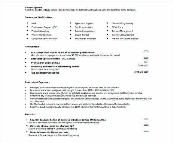 Doc Format Automobile Resume Template