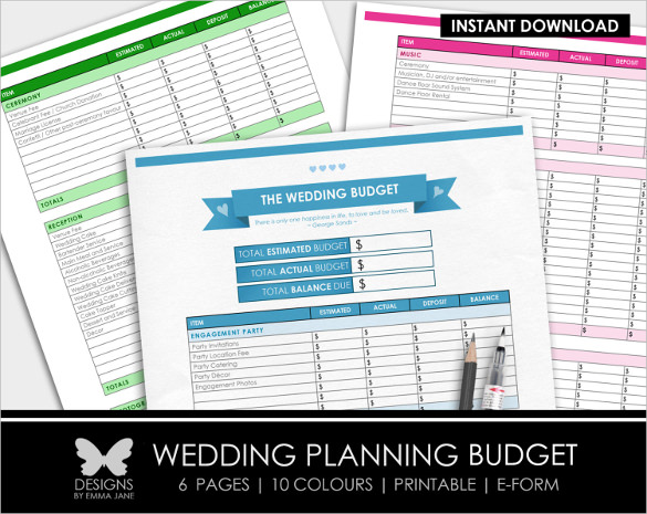 Easy To a Wedding Budget Worksheet1