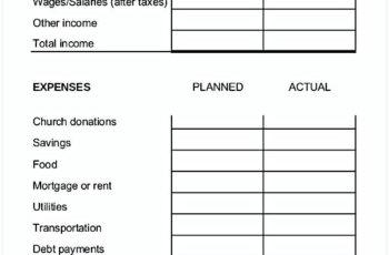 Family Budget Worksheet