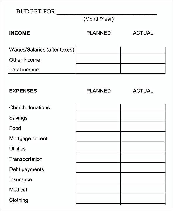 Home Budget Spreadsheet Template