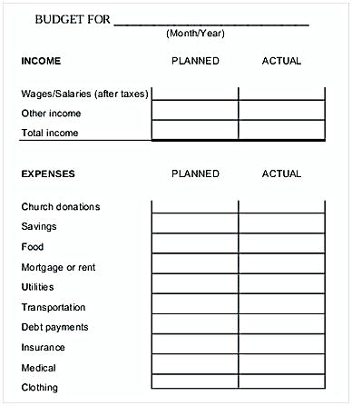 Monthly Family Budget Worksheet1