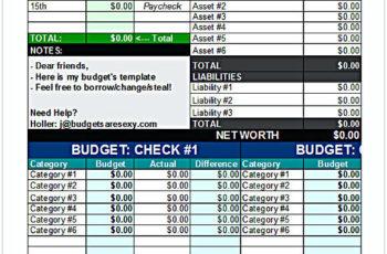 Sample Budget Planner Excel