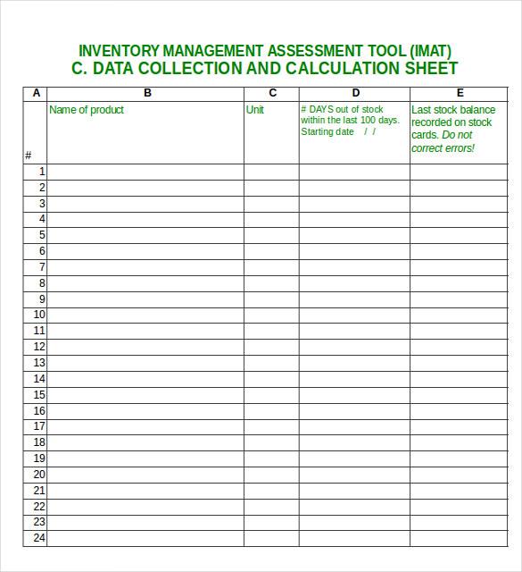 inventory management excel