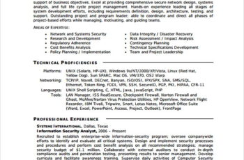 Information Security Specialist Resume