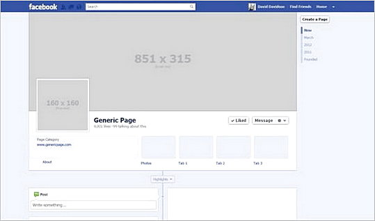Awesome Facebook Timeline Size templates