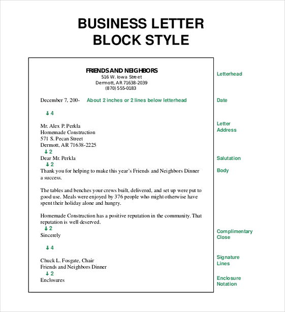 Business Letter Block Style