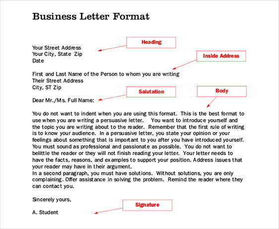 Business Letter Formattemplates