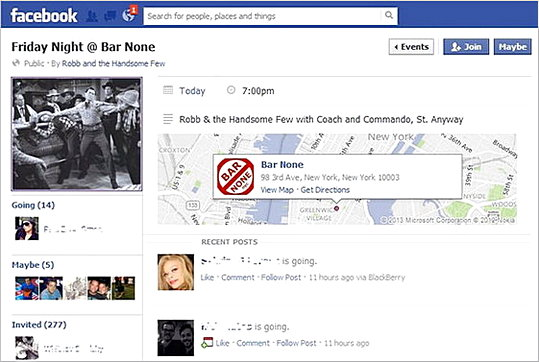 Facebook Event with Cover Size templates