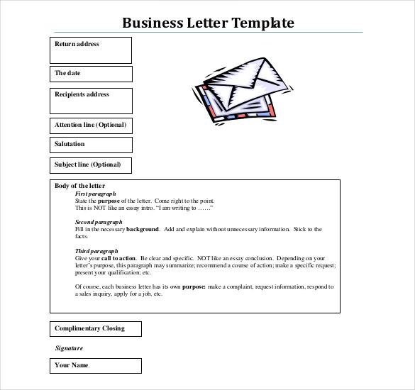 Format Business Letter templates 1