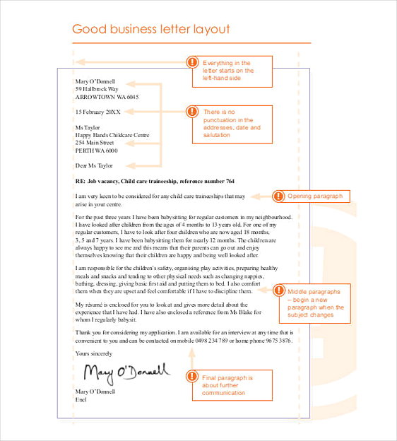 Good Business Letter Layout