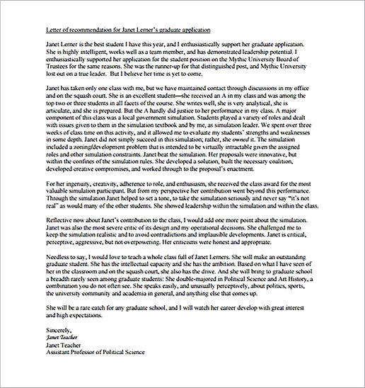How to Write a Letter of Recommendation for Graduate School