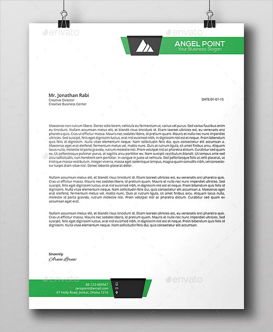 Line Business Letterhead templates PSD
