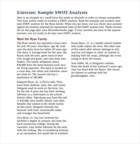 Sample SWOT Analysis Exercise1