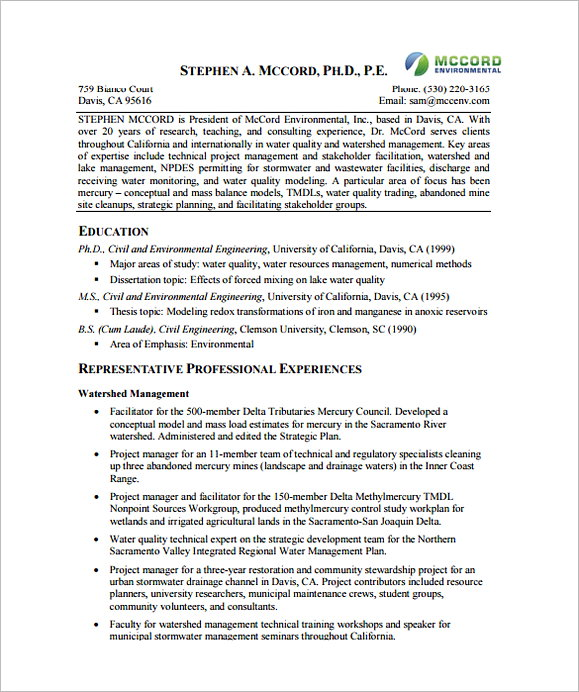 Technical Project Manager Resume PDF Download 1