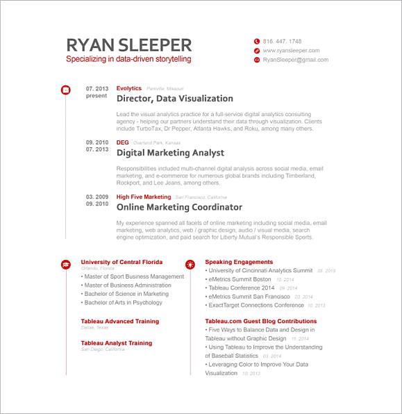 Digital Marketing Analyst Resume 1 1