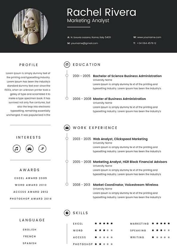 Marketing Analyst Resume templates 1