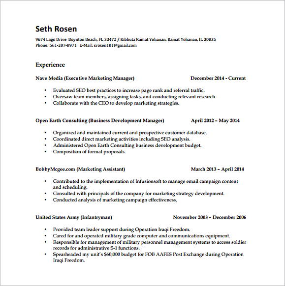 Marketing Campaign Analyst Resume