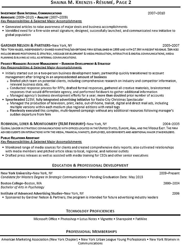 investment banking analyst resume templates