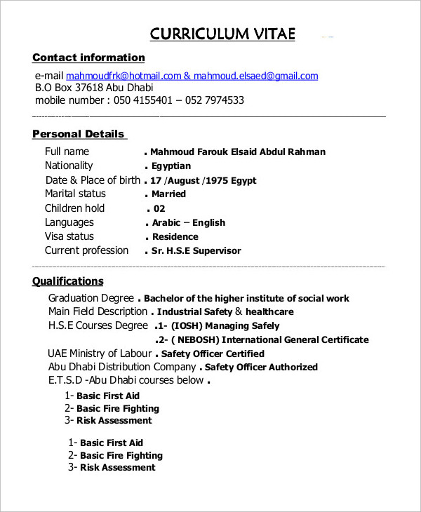 Construction Supervisor Resume templates
