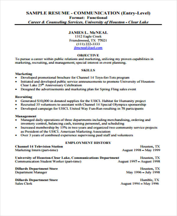 Entry Level Management 1