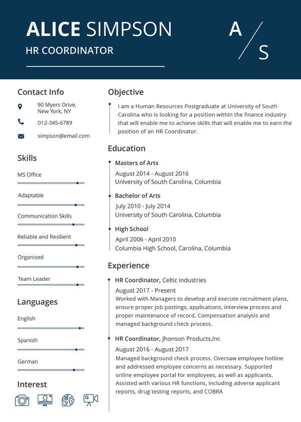 HR Resume templates1