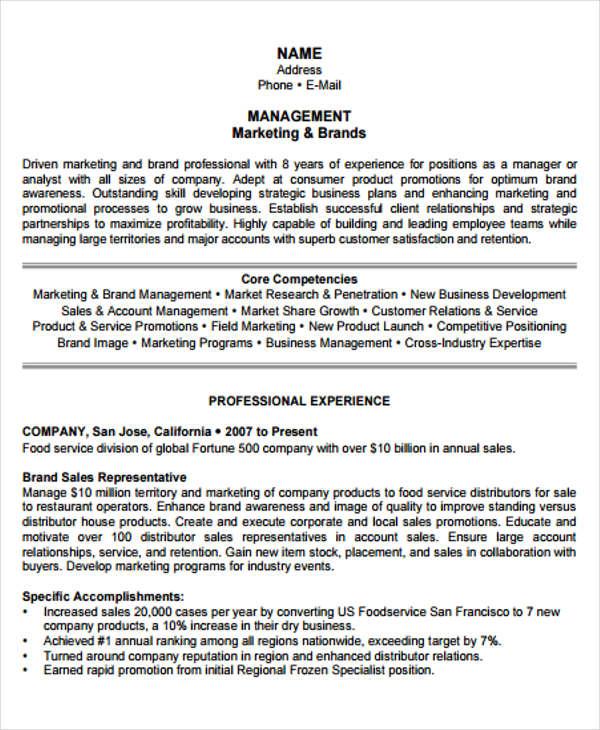 Marketing Resume 1